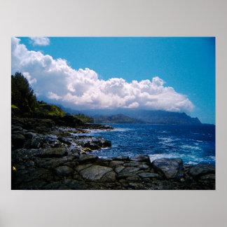 Hawaiian Island Tropical Storm Poster