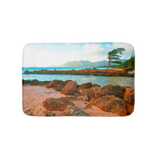 Hawaiian Islands Beach Retreat Bath Mat