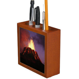 Hawaiian Islands Volcano Desk Organizer
