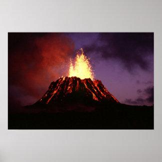 Hawaiian Islands Volcano Poster