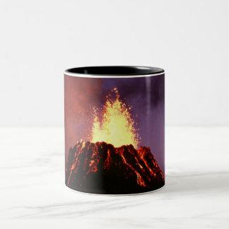 Hawaiian Islands Volcano Two-Tone Coffee Mug