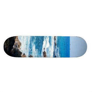 Hawaiian Lava Ocean Coast Line Hawaii Waves Skate Board Deck