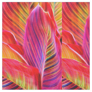 Hawaiian leaves fabric