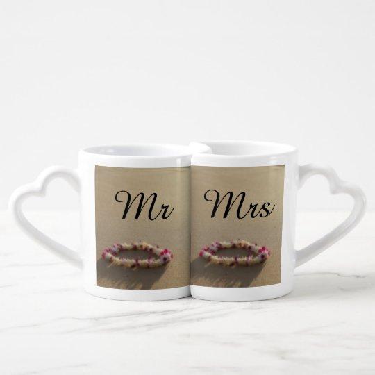 Hawaiian Lei Beach Wedding Couples Mug