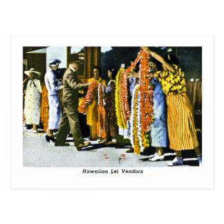 Hawaiian Lei Dealers Postcard