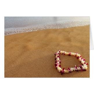 Hawaiian Lei Greeting Card