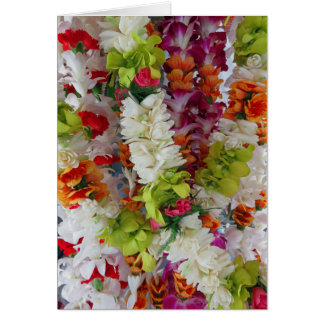 Hawaiian Lei Stand Card