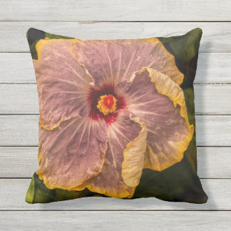 Hawaiian Lilac Hibiscus from Kauai Outdoor Outdoor Pillow
