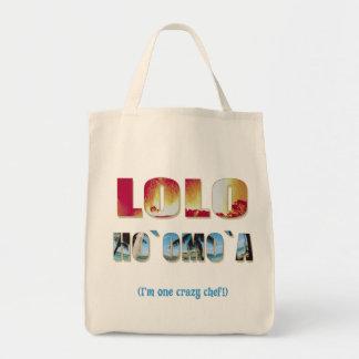 """Hawaiian """"Lolo Ho`omo`a"""" Grocery Tote"""
