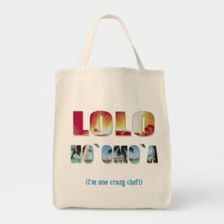"Hawaiian ""Lolo Ho`omo`a"" Grocery Tote Tote Bag"