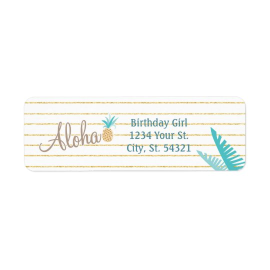 Hawaiian Luau Address Labels