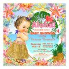 Hawaiian Luau Baby Shower Card