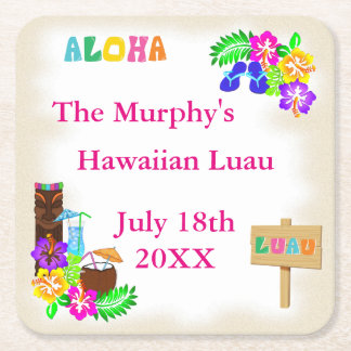 Hawaiian Luau Drink Coasters