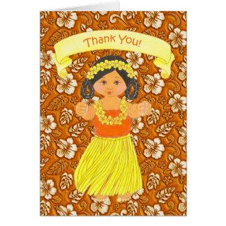 Hawaiian Luau Party Thank You Cards