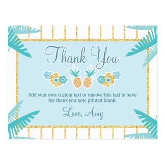 Hawaiian Luau Thank You Cards Postcard
