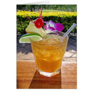 Hawaiian Mai Tai Card