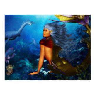Hawaiian Mermaid Postcards