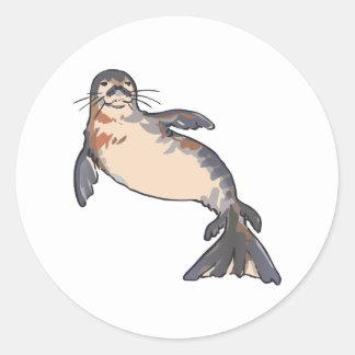 HAWAIIAN MONK SEAL ROUND STICKER