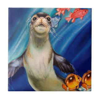 Hawaiian Monk Seal Tile
