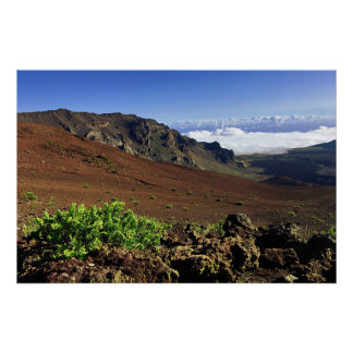 Hawaiian Mountain Range Poster