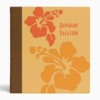 Hawaiian Orange Hibiscus Binder