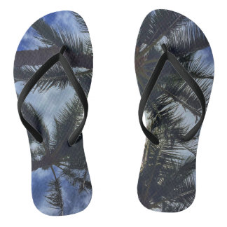 Hawaiian Palm Tree Flip-Flops Flip Flops
