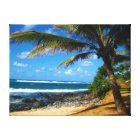 Hawaiian Palm Tree Wrapped Canvas