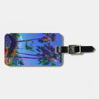 Hawaiian Palm Trees Luggage Tag