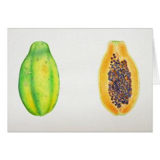 Hawaiian Papayas Card