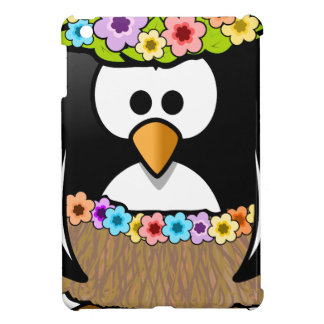 Hawaiian Penguin With flowers and grass skirt Case For The iPad Mini
