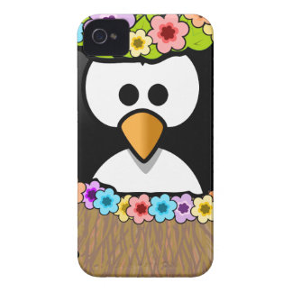Hawaiian Penguin With flowers and grass skirt Case-Mate iPhone 4 Case