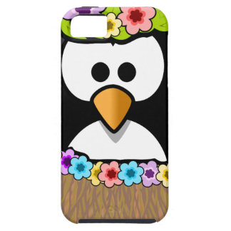 Hawaiian Penguin With flowers and grass skirt iPhone 5 Cases