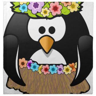 Hawaiian Penguin With flowers and grass skirt Napkin