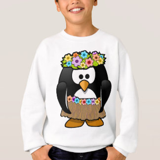 Hawaiian Penguin With flowers and grass skirt Sweatshirt