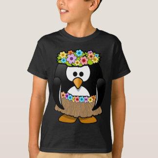 Hawaiian Penguin With flowers and grass skirt T-Shirt