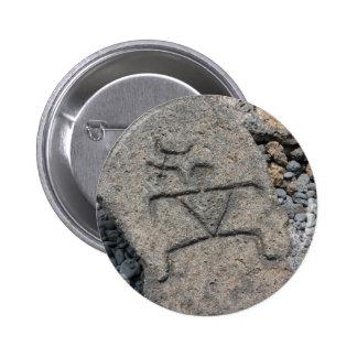 Hawaiian Petroglyph - Button