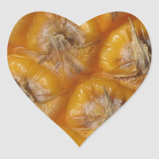 Hawaiian Pineapple Heart Sticker