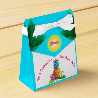 Hawaiian Pineapple Luau Party Boxes