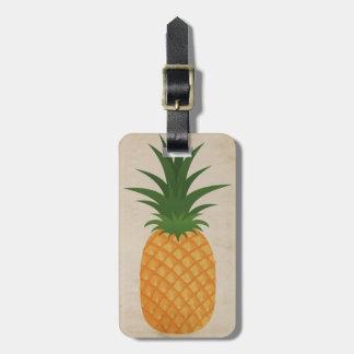 Hawaiian Pineapple Trendy Retro Pineapple Graphic Bag Tag