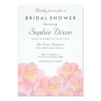 Hawaiian Pink Floral Bridal Shower Invitation