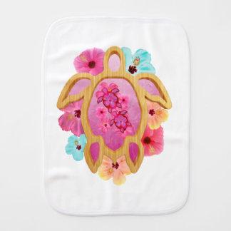Hawaiian Pink Honu Burp Cloth