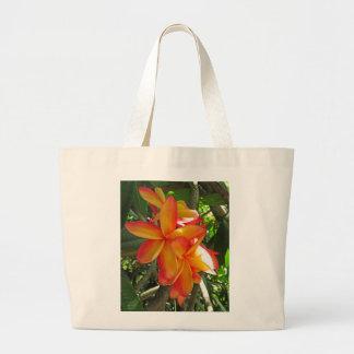 Hawaiian Plumeria Large Tote Bag