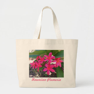 Hawaiian Plumeria Large Tote Bag