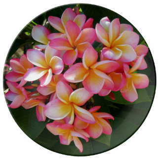 Hawaiian Plumeria Porcelain Plate