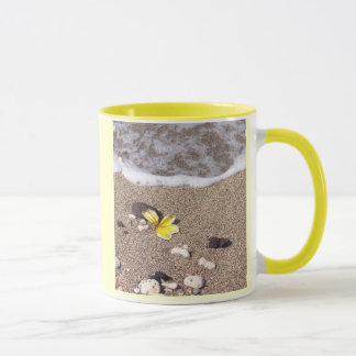 Hawaiian plumeria washes ashore coffee mug