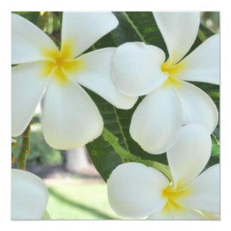 Hawaiian Plumeria Wedding Invitation