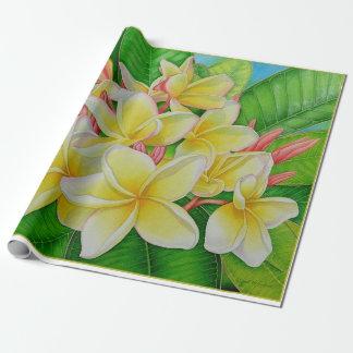 Hawaiian Plumeria Wrapping Paper