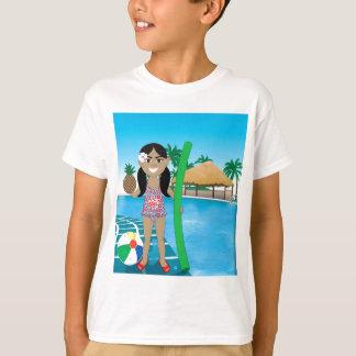 Hawaiian Pool Girl T-Shirt