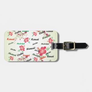 Hawaiian Print Luggage Tag