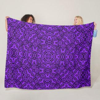 Hawaiian Purple Sea Turtles Satin Foulard Mandala Fleece Blanket